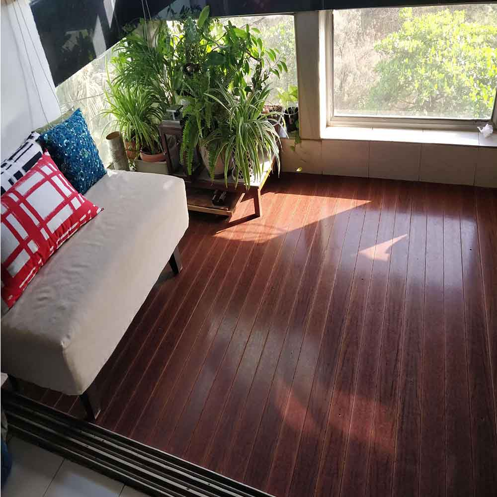 Residential balcony flooring